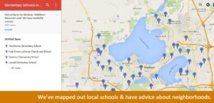 Map of schools Madison Middleton Wisconsin Jacci and Rachael See